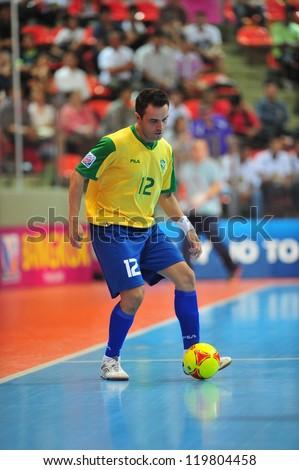BANGKOK, THAILAND - NOV 14: Falcao in action during FIFA Futsal World Cup between Argentina (B) and Brazil (Y) at Indoor Stadium Huamark on November 14, 2012 in Bangkok, Thailand. - stock photo