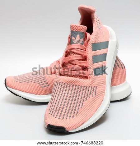 BANGKOK, THAILAND - NOVEMBER 1, 2017: Adidas swift run w 2017 sports shoes