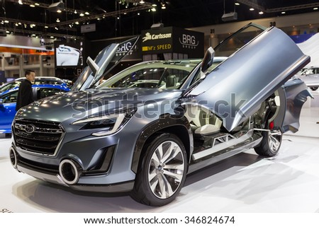 BANGKOK, THAILAND - NOVEMBER 2: Subaru Viziv 2 Concept car on display  at The 32nd Thailand International Motor Expo on November 2, 2015 in in Bangkok, Thailand.