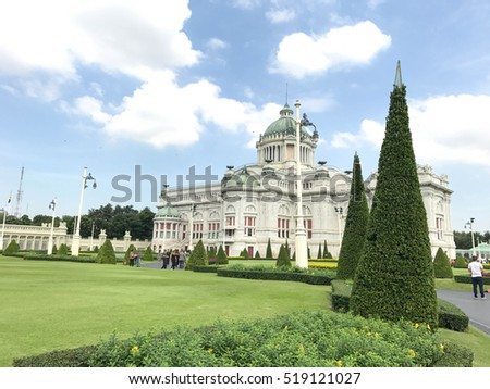 BANGKOK,THAILAND,NOVEMBER 20 2016: The Ananta Samakhom Throne Hall on November 20, 2016. The Ananta Samakhom Throne Hall is a major tourist attraction in Bangkok, Thailand.