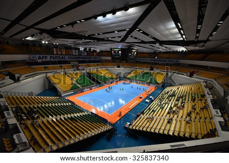 BANGKOK THAILAND-OCT8:View of Bangkok Arena Stadium during 2015 AFF Futsal Championship at Bangkok Arena Stadium on October8,2015in Thailand