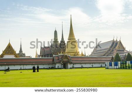 Bangkok, Thailand - Royal Palace and Wat Phra Kaeo Complex - stock photo