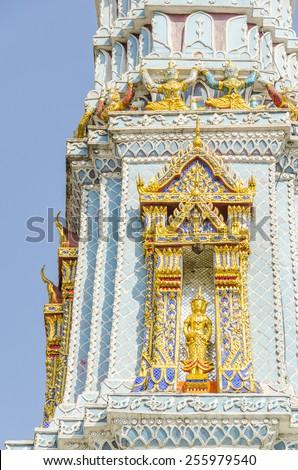 Bangkok, Thailand - Royal Palace and Wat Phra Kaeo Complex - detail - stock photo