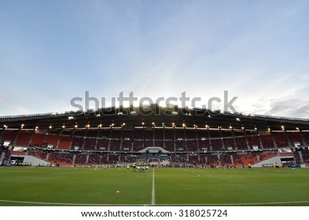 BANGKOK THAILAND SEP8:View of Rajamangala Stadium during the Fifa World Cup Group F qualifying Match between Thailand and Iraq at Rajamangala Stadium on September 8,2015 in Thailand.