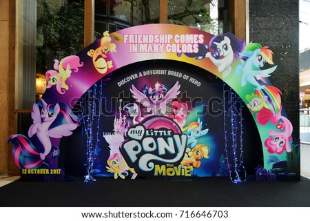 Bangkok, Thailand - September 16, 2017: Cute Standee of My Little Pony: The Movie displays at the theater