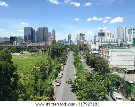 Bangkok, Thailand - September 7th, 2015: Road to the city