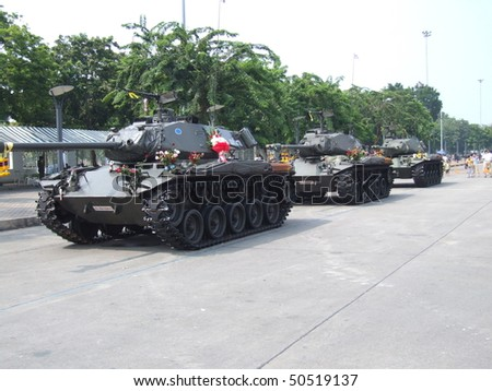 BANGKOK, THAILAND - SEPTEMBER 22 : Thai military take over the government of Prime Minister Thaksin  Shinawatra in a military coup September 22, 2006 in Bangkok.