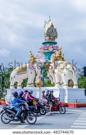 BANGKOK, Thailand - SEPTEMBER 25, 2015 : Unseen ancient building and more favorite landmark around the Royal Grand Palace are the main revenue business travel in Thailand.