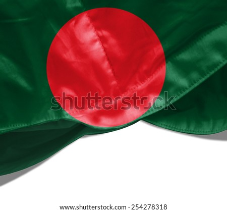 Bangladesh flag and white background - stock photo