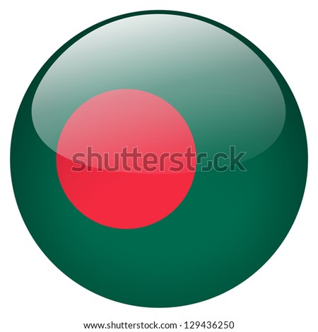 Bangladesh flag button - stock photo