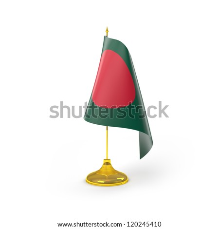 Bangladesh Flag Detail Render - stock photo