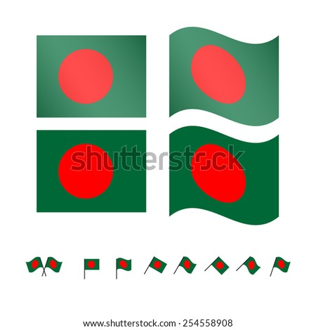 Bangladesh Flags - stock photo