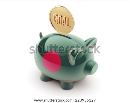 Bangladesh High Resolution Goal Concept High Resolution Piggy Concept