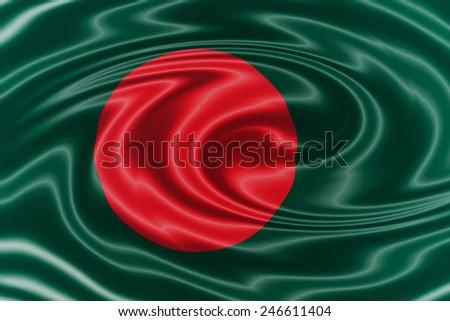 Bangladesh waving flag - stock photo