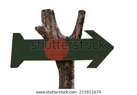 Bangladesh wooden sign isolated on white background - stock photo
