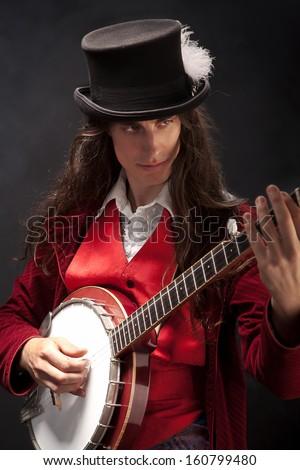 Banjo player - stock photo