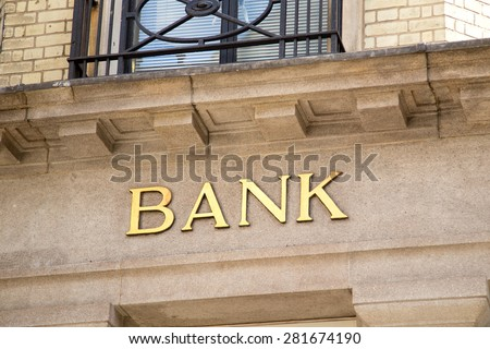 bank - stock photo