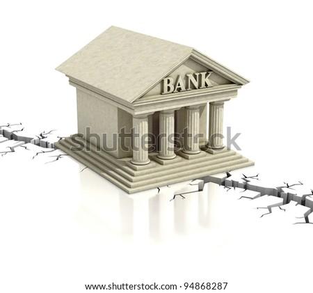 bank crisis 3d concept - stock photo