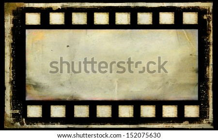 Bank old grunge film strip frame background