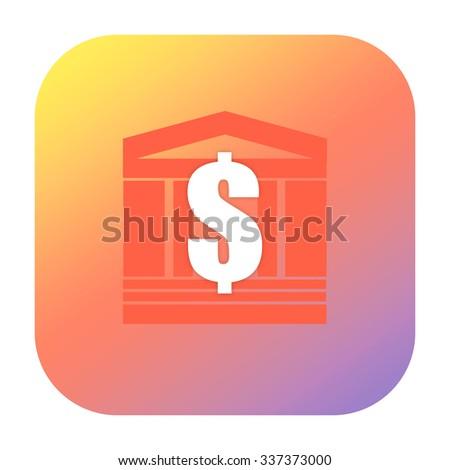 Bank or luxury real estate icon - stock photo