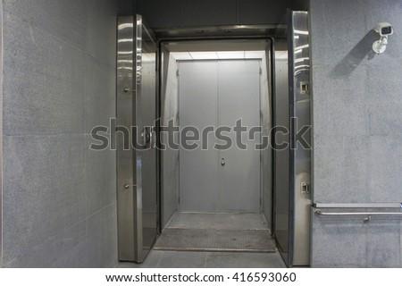 Bank safe box - stock photo