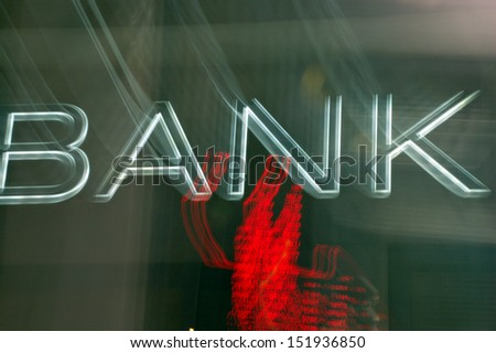 Bank Sign - stock photo