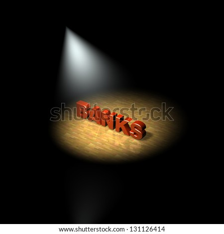 Bank, spotlight on banks. 3D - stock photo