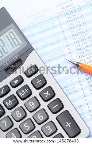 Bank statement analysis with calculator