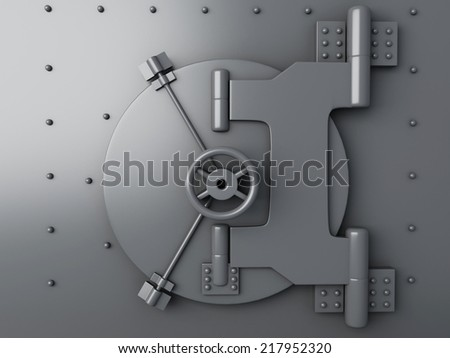 Bank vault closed. Bank Safe, security concept - stock photo