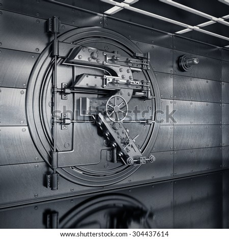 Bank Vault Door. Business concept. currency Indian rupee symbol and banking safe. High resolution 3D