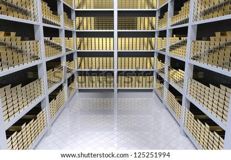 Inside Bank Vault