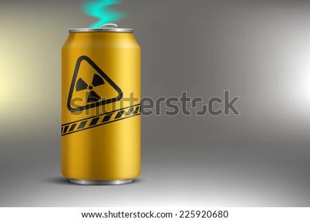 bank with radioactive soda - stock photo
