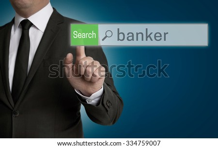 banker browser is operated by businessman concept.
