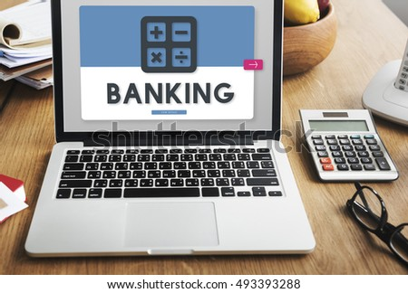 Banking Accounting Calculating Finance Concept