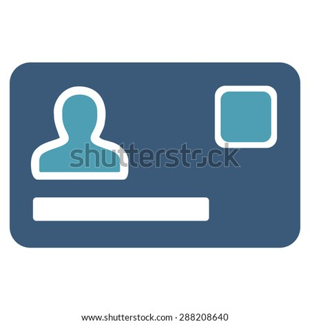 Banking Card icon from Business Bicolor Set. This flat raster symbol uses cyan and blue colors, rounded angles, and isolated on a white background. - stock photo