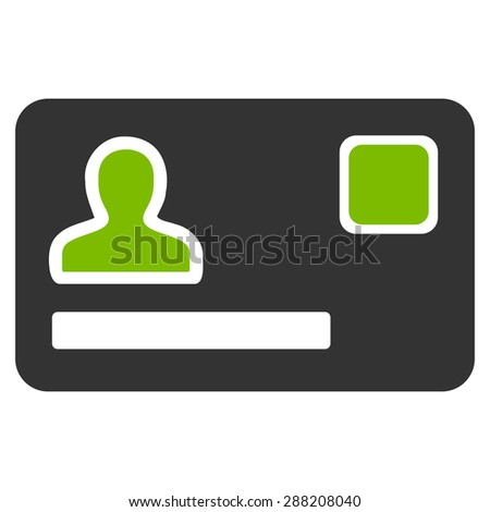 Banking Card icon from Business Bicolor Set. This flat raster symbol uses eco green and gray colors, rounded angles, and isolated on a white background. - stock photo