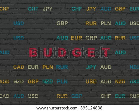 Banking concept: Budget on wall background