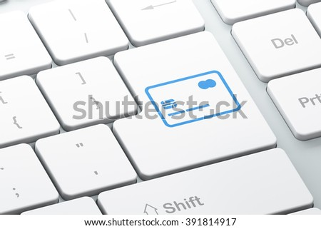 Banking concept: Credit Card on computer keyboard background