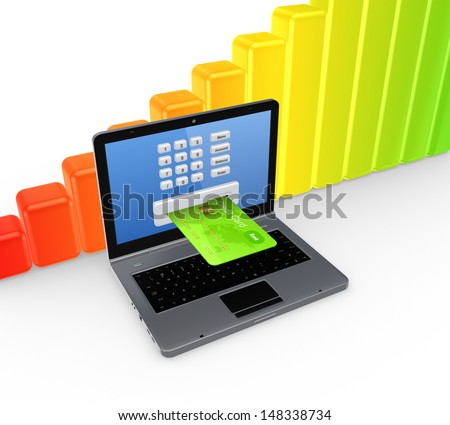 Banking concept.Isolated on white.3d rendered. - stock photo
