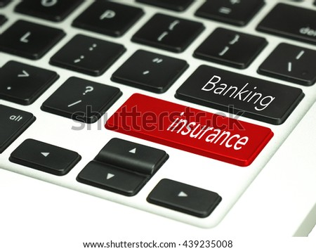 Banking concept on keyboard button.