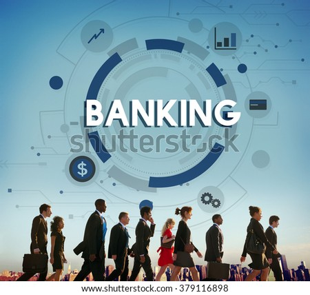 Banking Finance Currency Money Economy Management Concept - stock photo