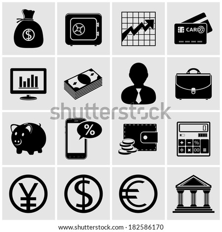 Banking & finance icons - stock photo