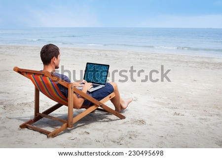 banking online - stock photo