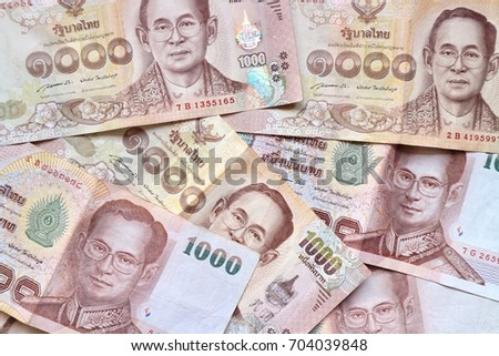 Banknote background, Thai Baht money currency