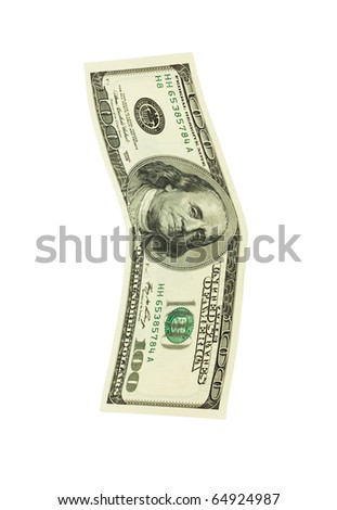 banknote isolated on a white background