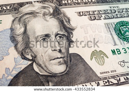 banknotes background, american dollar, financial concept - stock photo