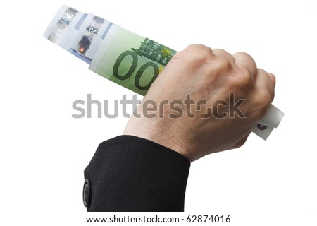 banknotes in the hand - stock photo