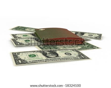 Banknotes on a white background