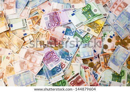 Banknotes pile - stock photo