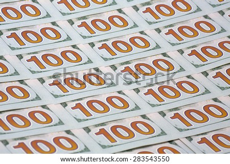 Banknotes reserve Bank of USA - stock photo